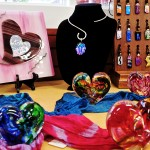 Jewlery and Glass Hearts