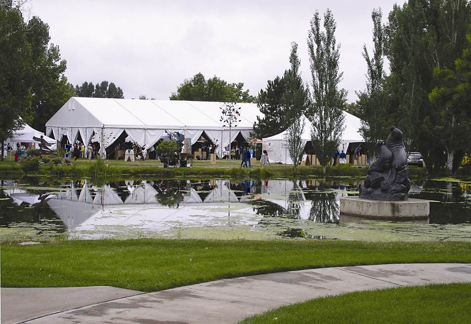 The 34th Annual Sculpture In Park Show And Sale Will Feature Approximately 160 Artists Included Is A Take Home Piece Of Tent
