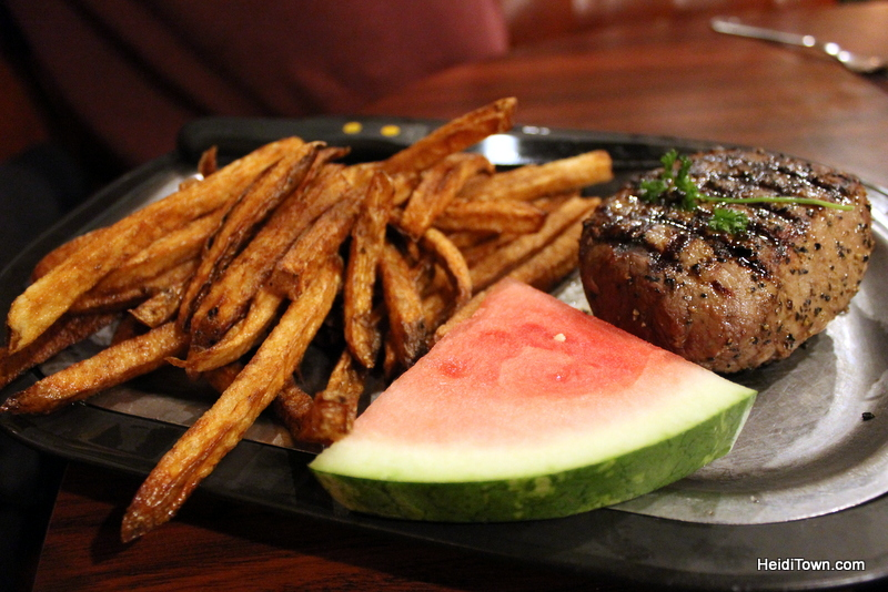 Loveland Food Tour, steak at the Black Steer. Visit Loveland