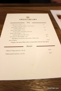 Loveland's New Destination for Wine Lovers, Sweet Heart Winery. Menu
