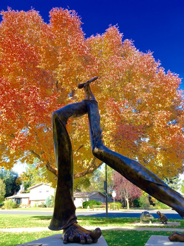 Five Ways to Enjoy Fall in Loveland, Colorado. Benson Sculpture Park in fall