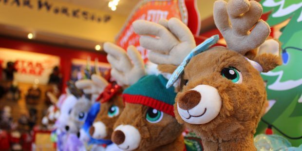 Shopping Loveland, Colorado for the Holidays. Build A Bear Workshop. Photo by Heidi Kerr-Schlaefer