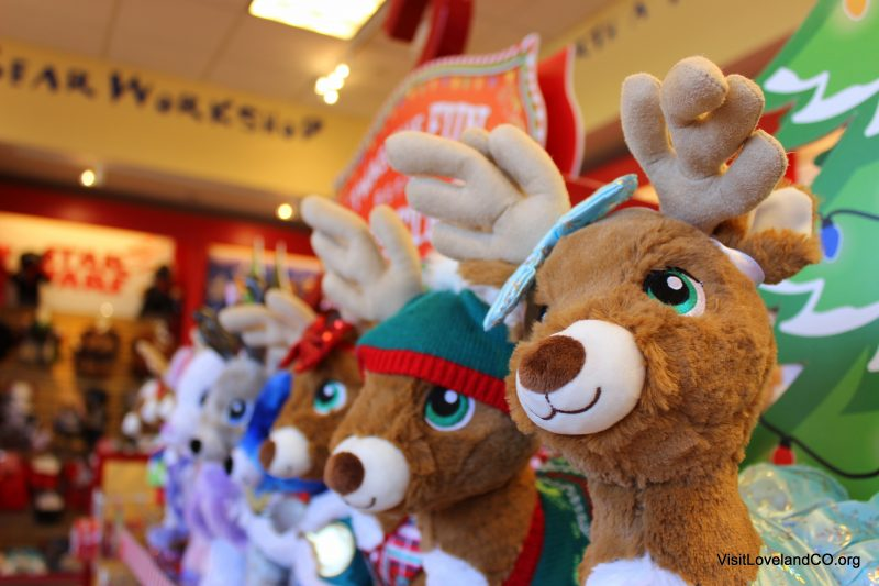 Shopping Loveland, Colorado for the Holidays. Build A Bear Workshop. Photo by Heidi Kerr-Schlaefer