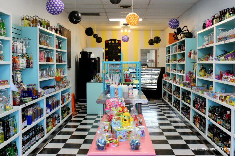 Shopping Loveland, Colorado for the holidays. Skimmez Sweet Shop. Photo by Heidi Kerr-Schlaefer