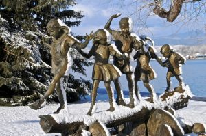 Winter Getaway Package in Loveland, Colorado, Benson Sculpture Garden in the snow
