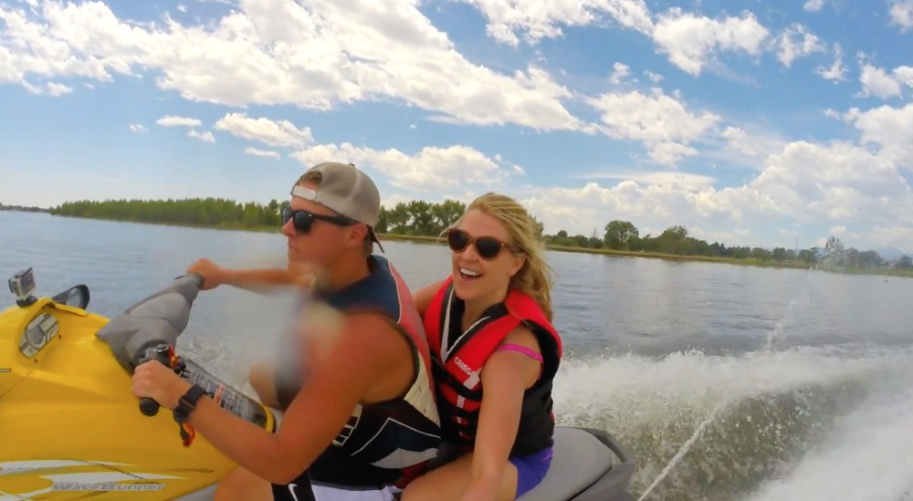 On the Water in Loveland, Colorado. photo credit Carri Wilbanks on Jetski