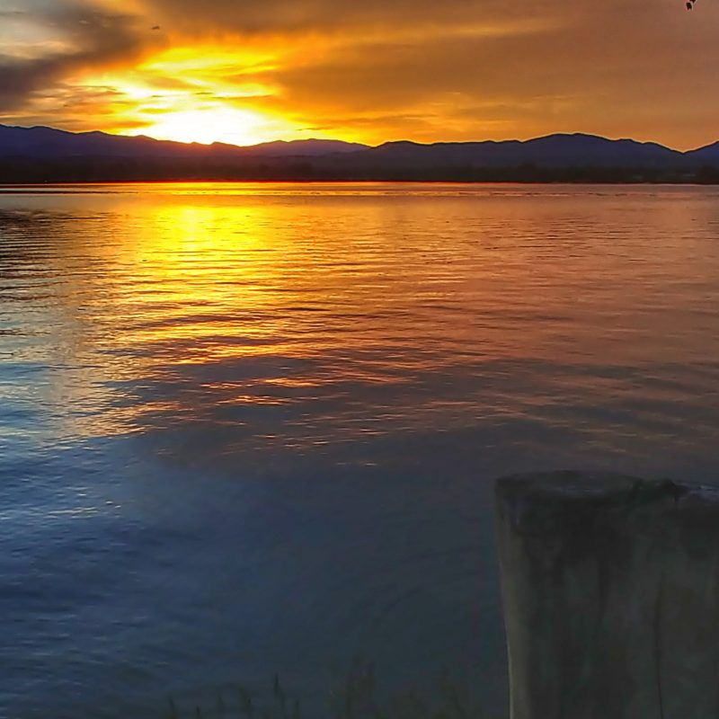 Sunset on Lake Loveland by S. Casey Funderburk