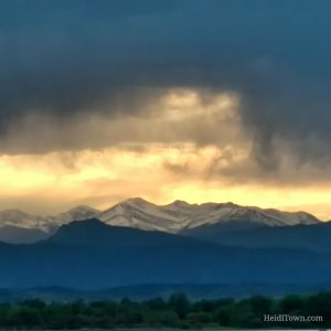 Sunset over Boyd Lake, by Heidi Kerr-Schlaefer